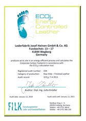 terracare® - Ecol Energy Controlled Leather