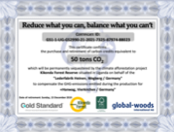 terracare® - CO2 Certificates